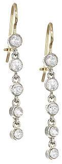 Renee Lewis Women's 18K Two-Tone Gold & Antique Diamond Gold Waterfall Drop Earrings
