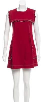 ALEXACHUNG Denim Mini Dress