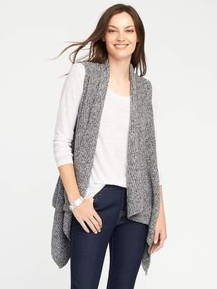 Textured Drape-Front Sweater Vest for Women $36.99 thestylecure.com