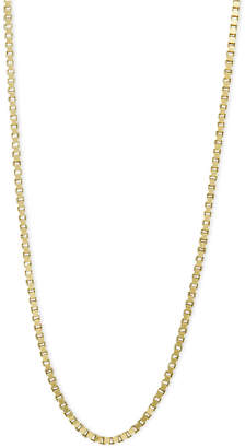 "Macy's 14k Gold Necklace, 16"" Plain Box Chain"