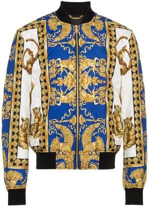 Versace Barocco print bomber jacket