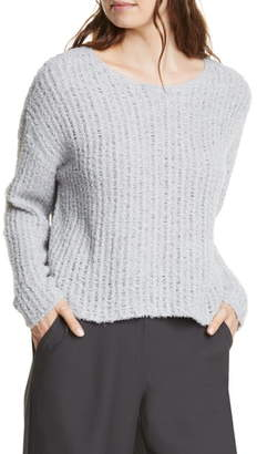Eileen Fisher Loose Stitch Organic Cotton Blend Sweater