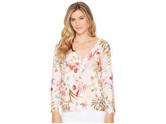Nally & Millie Floral Print Cardigan Women's Sweater