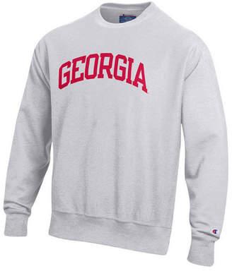 Champion Men Georgia Bulldogs Reverse Weave Crew Sweatshirt