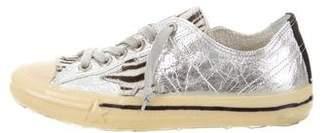 Golden Goose Metallic V-Star 2 Sneakers