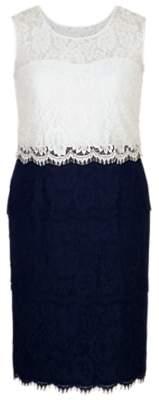 chesca Chesca Scallop Layered Lace Dress