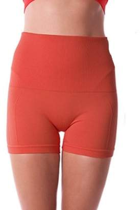Beauty America Renewed Fat Reduction Stomach Control I Tight Stretchable Workout Yoga Shorts For Women - SMALL CORAL