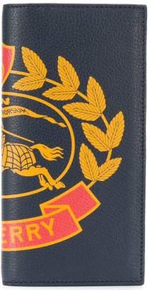 Burberry logo continental wallet
