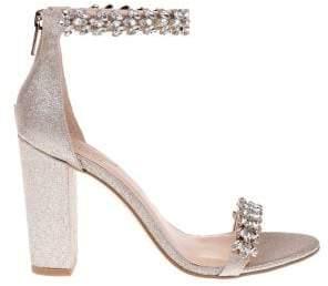 Badgley Mischka Mayra Shimmer Sandals