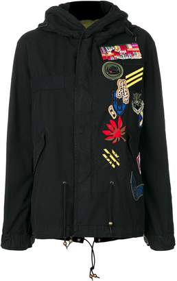 Mr & Mrs Italy patch detail parka