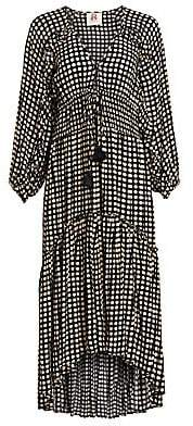 Figue Women's Alessia Polka Dot Ruched Waist Dress