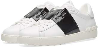Valentino Open Low Top Patent Sneaker