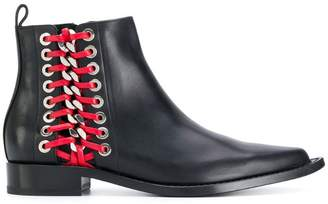 Alexander McQueen Braided Chain ankle boots