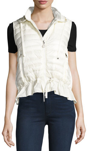 Moncler Moncler MAGLIA GILET, HOODED DOWN AN