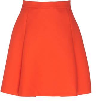 DELPOZO Pleated Wool Mini Skirt Size: 40