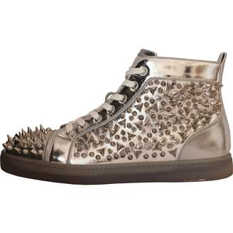 Christian Louboutin Silver Leather Trainers