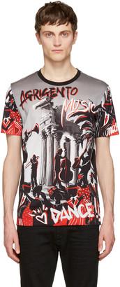 Dolce & Gabbana Black & Grey 'Agrigento' T-Shirt $495 thestylecure.com