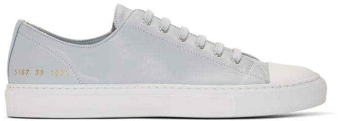 Common Projects Grey Tournament Low Cap Toe Sneakers