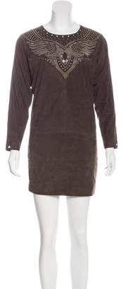 Isabel Marant Suede Embellished Dress