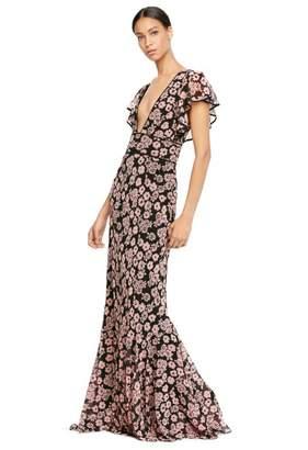Floral Print Chiffon Deni Maxi Dress $775 thestylecure.com