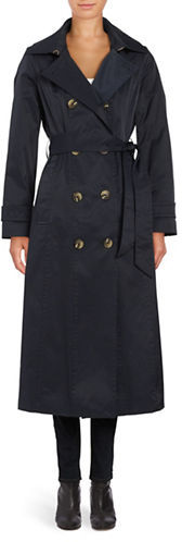 Anne Klein Anne Klein Tailored-Fit Double-Breasted Trench Coat