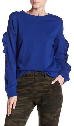 Sanctuary Raw Edge Ruffle Trim Sweatshirt