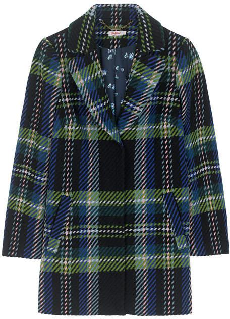 Dark Check Tweed Coat