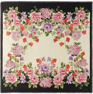 Gucci Modal silk shawl with Rising Flower print