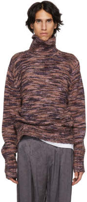 Sies Marjan Multicolor Silk and Wool Turtleneck