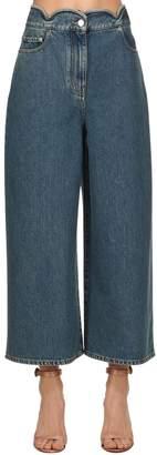Valentino Scalloped Waist Denim Cropped Jeans