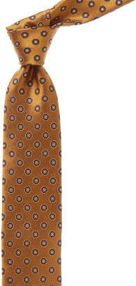 Canali Bronze And Navy Circle Silk Tie