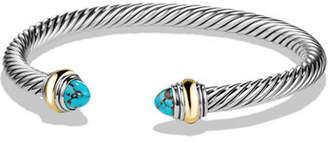 David Yurman Cable Bullet Cabochon Bracelet, 5mm