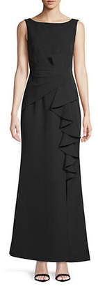 Eliza J Sleeveless Ruffle-Front Dress