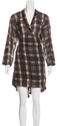 Etoile Isabel Marant Plaid Wrap Dress