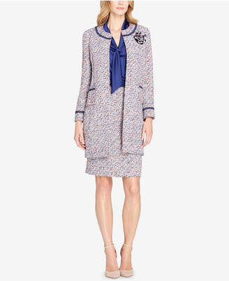 Tahari ASL Metallic Boucle Topper Jacket