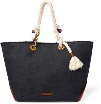 Ralph Lauren Braided-Rope Canvas Tote