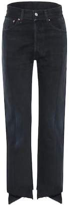 Vetements High-waisted deconstructed jeans