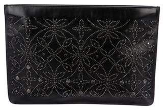 Alaia Studded Leather Zip Pouch