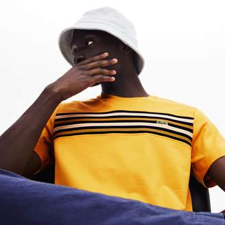 Lacoste Men's Crew Neck Striped Panel Cotton T-shirt