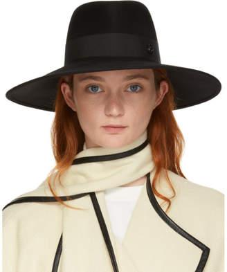 Maison Michel Black Felt Pina Hat