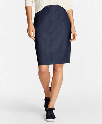 Brooks Brothers Denim Pencil Skirt