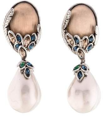 Alexis Bittar Faux Pearl Alexandria Clip-On Earrings