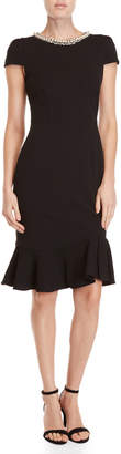 Betsey Johnson Faux Pearl Flounce Dress