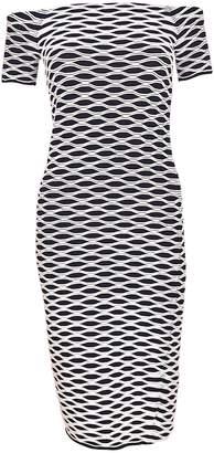 MICHAEL Michael Kors Michael Kors Optical-print Sheath Dress