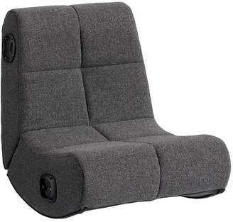 Pottery Barn Teen Charcoal Tweed Mini Rocker Speaker Chair