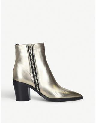 Gianvito Rossi Berkley 70 metallic leather ankle boots