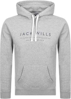 Jack Wills Batsford Popover Hoodie Grey