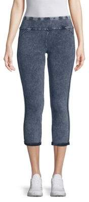 Stretch Cotton Cropped Jeggings