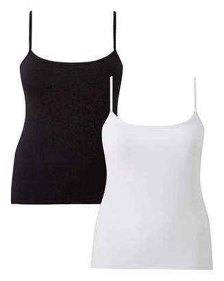 Naturally Close 2 Pack Secret Support Cotton Vest