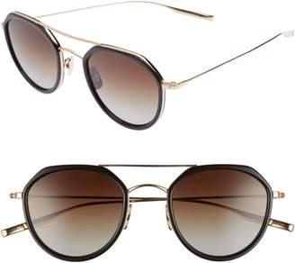 Salt Dibergi Resin 50mm Polarized Round Sunglasses